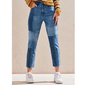 PacSun Patch Blue Mom Jeans
